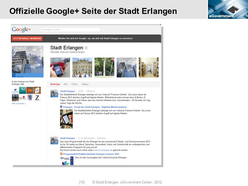 Offizielle Google+ Seite der Stadt Erlangen