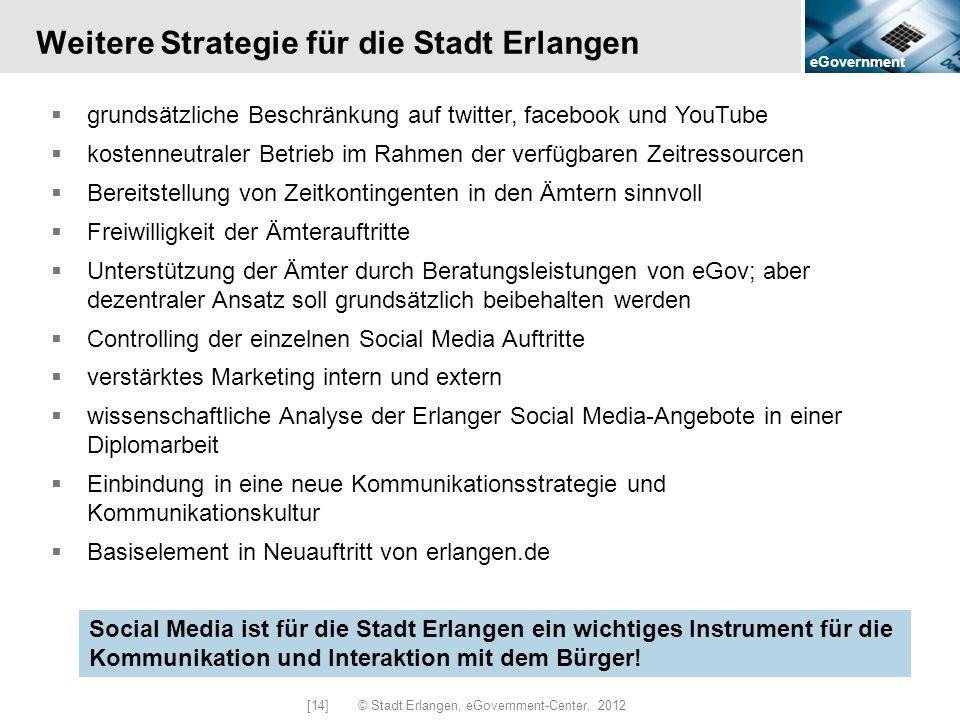 Weitere Strategie für die Stadt Erlangen