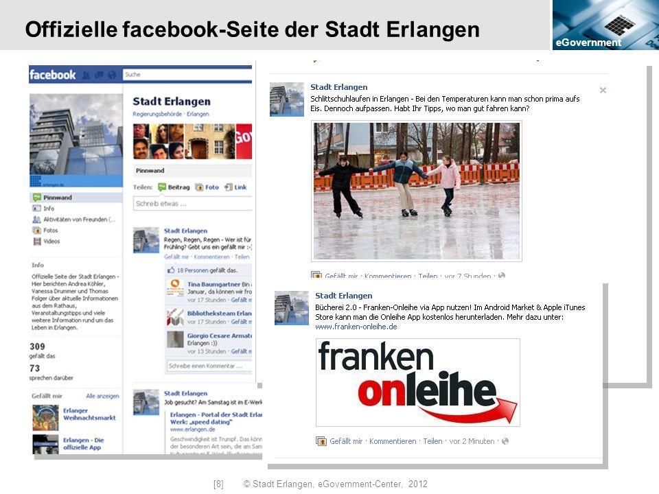 Offizielle facebook-Seite der Stadt Erlangen