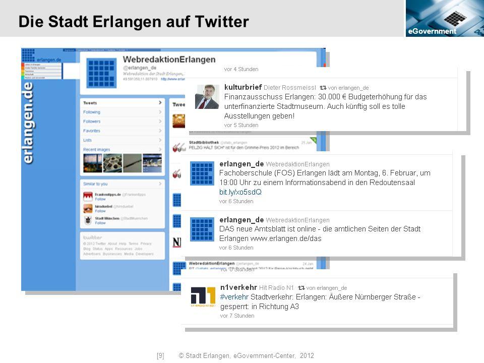 Die Stadt Erlangen auf Twitter