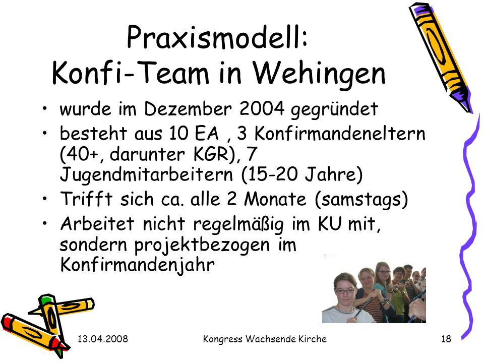 Praxismodell: Konfi-Team in Wehingen