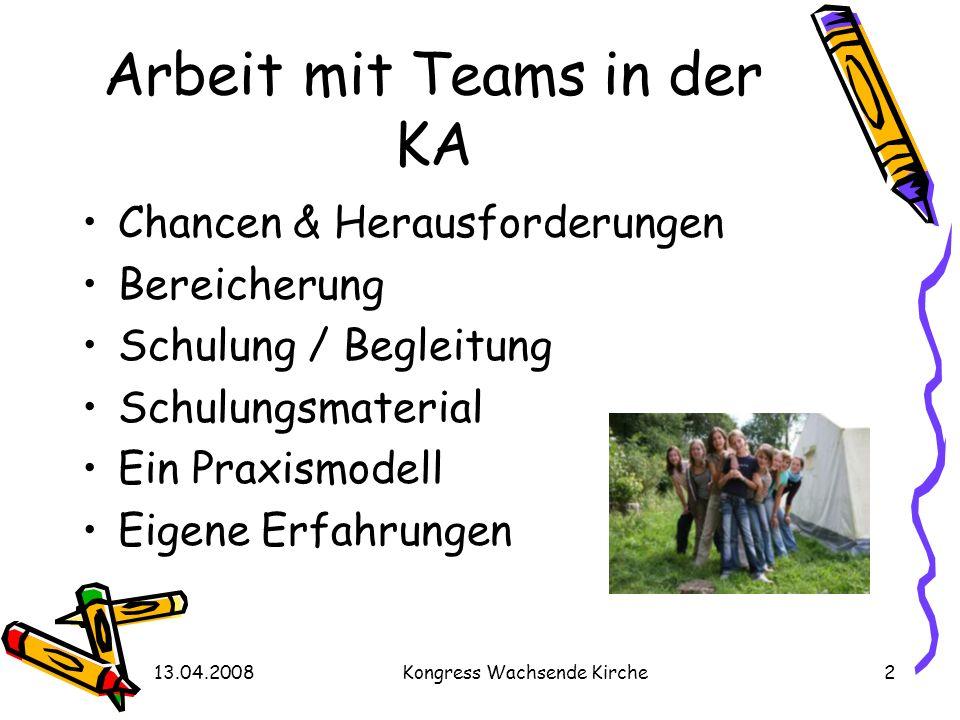 Arbeit mit Teams in der KA