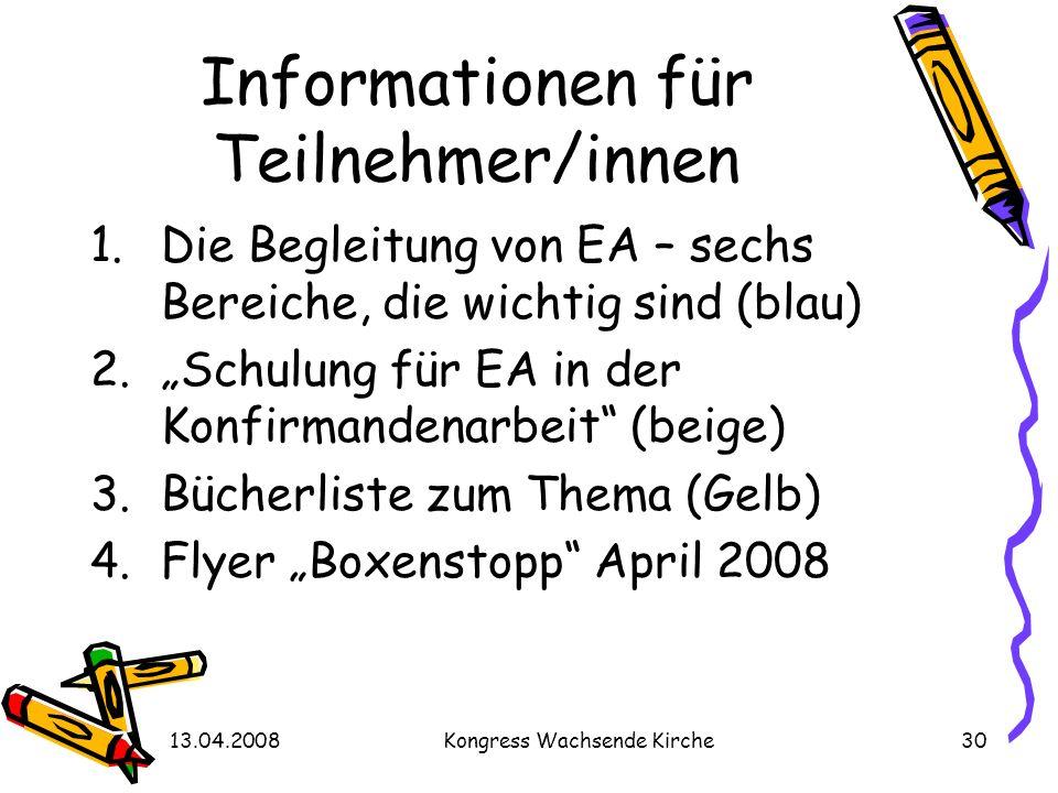 Informationen für Teilnehmer/innen