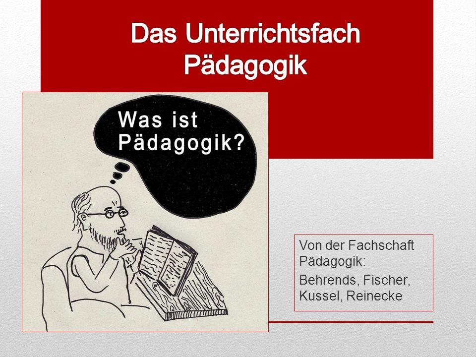 Von der Fachschaft Pädagogik: Behrends, Fischer, Kussel, Reinecke