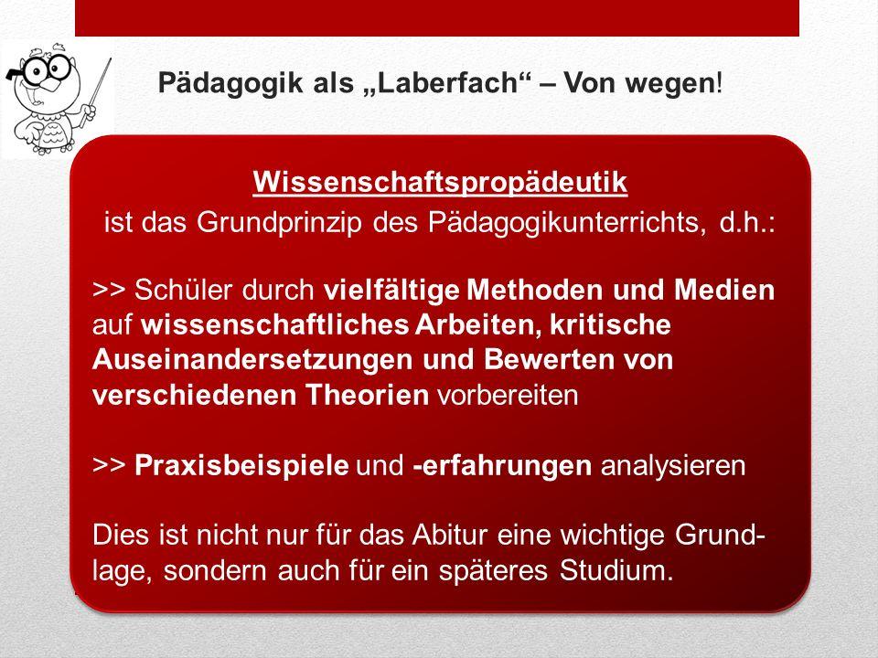"""Pädagogik als """"Laberfach – Von wegen!"""