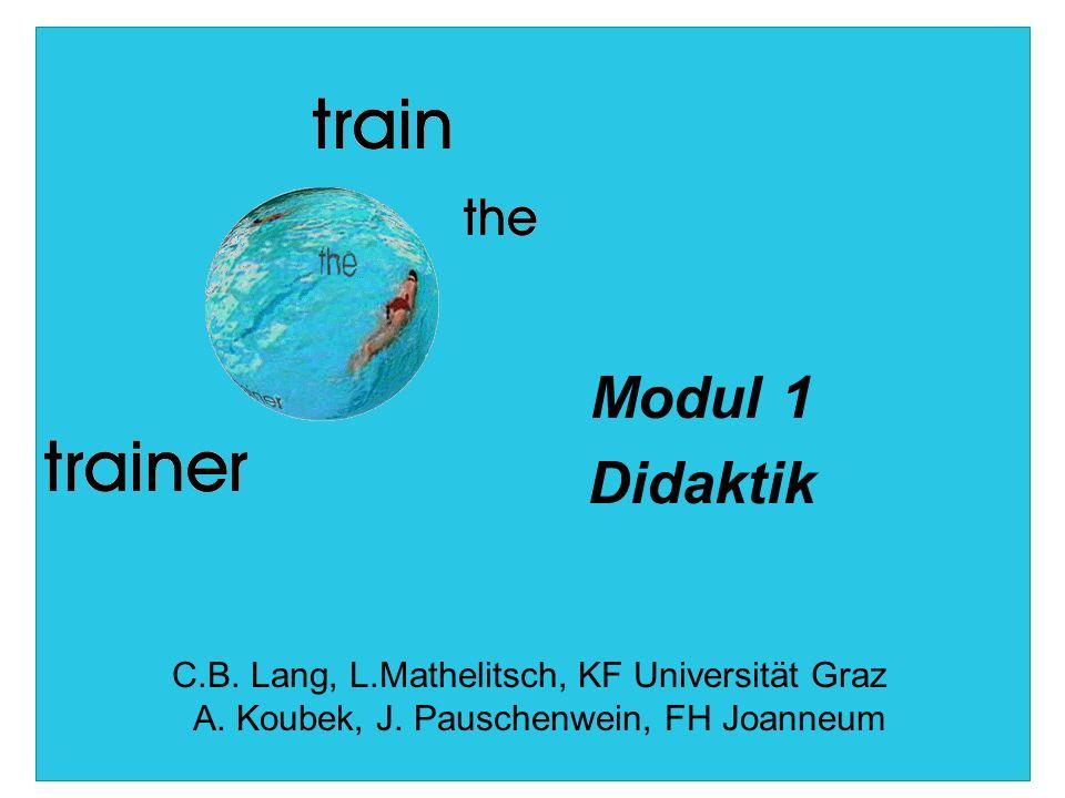 Modul 1 Didaktik C.B. Lang, L.Mathelitsch, KF Universität Graz