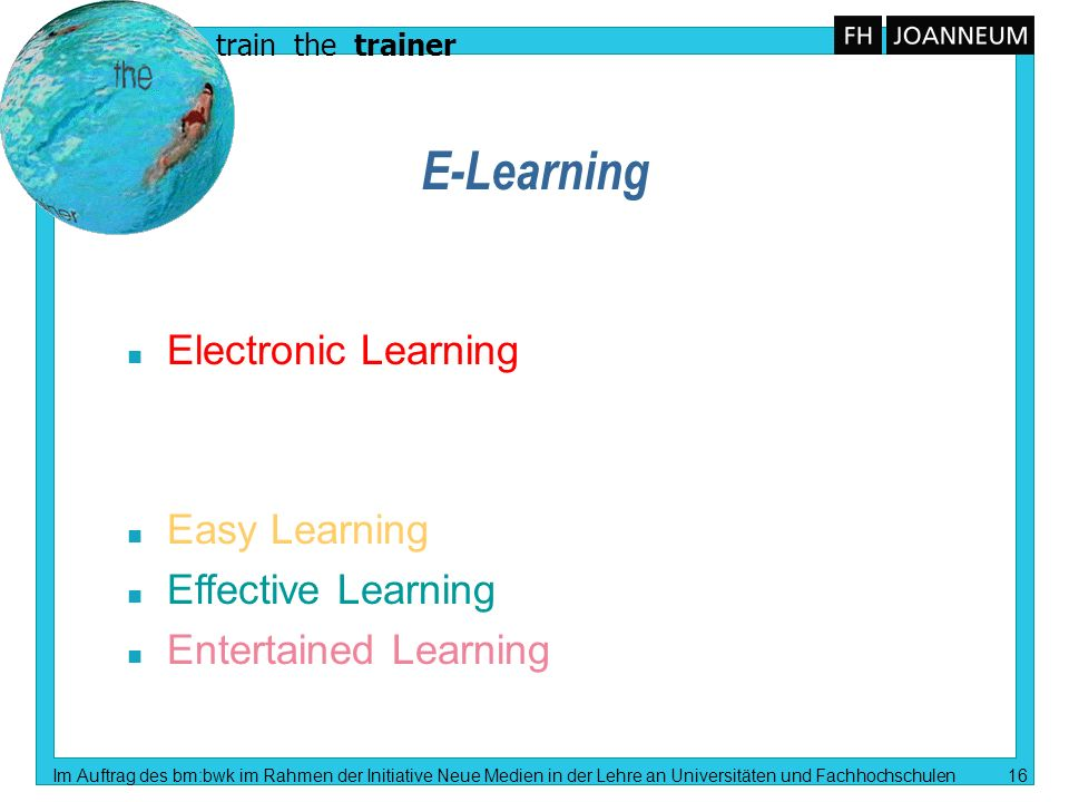 E-Learning Electronic Learning Easy Learning Effective Learning