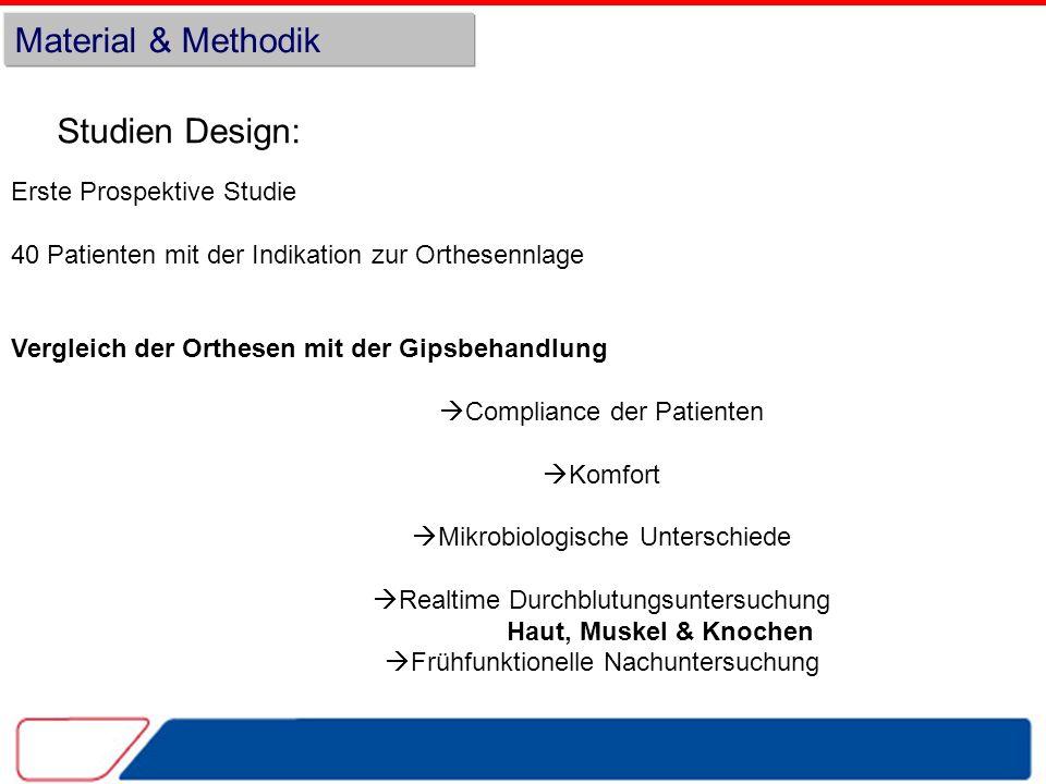 Material & Methodik Studien Design: Erste Prospektive Studie