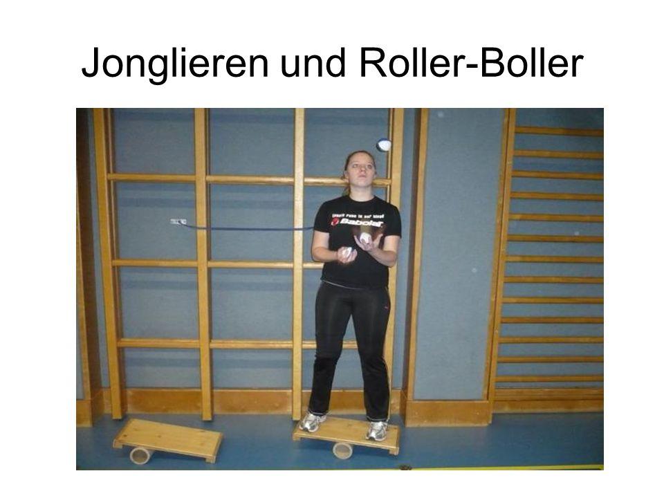 Jonglieren und Roller-Boller