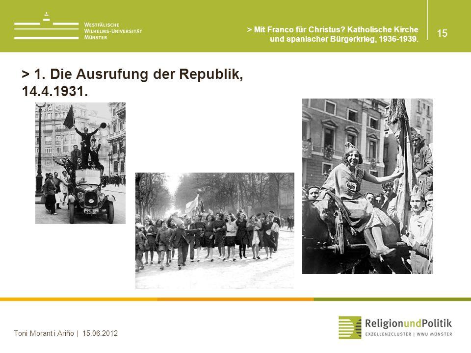 > 1. Die Ausrufung der Republik, 14.4.1931.