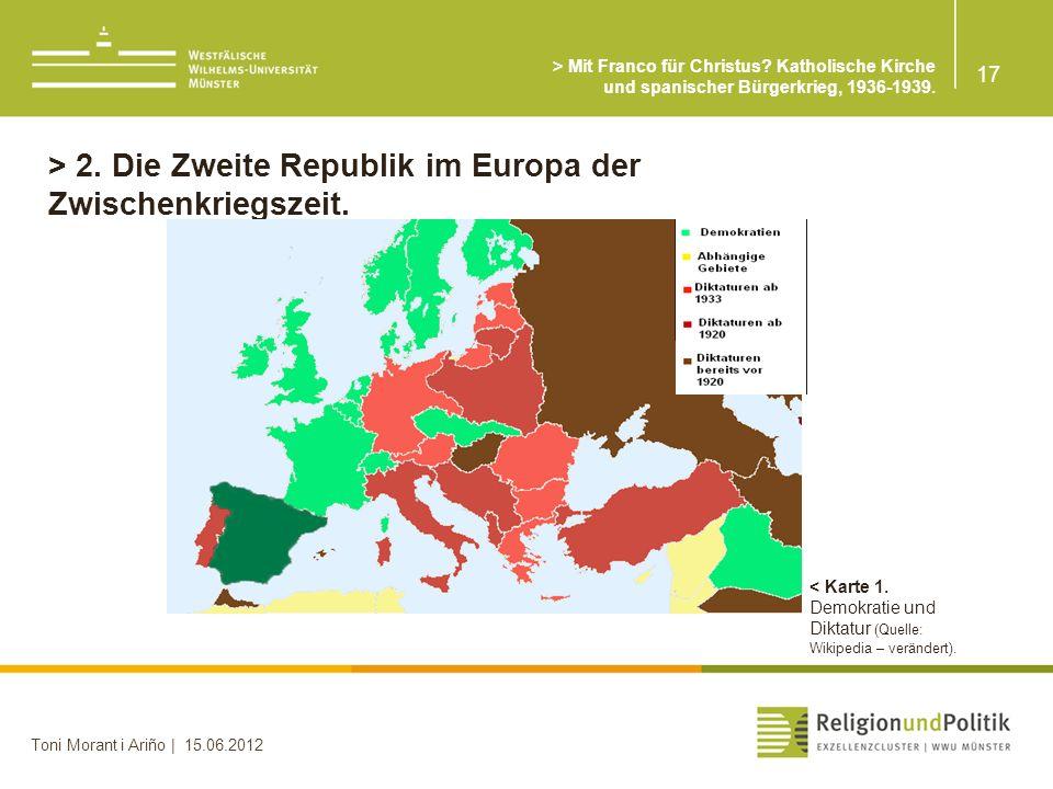 > 2. Die Zweite Republik im Europa der Zwischenkriegszeit.