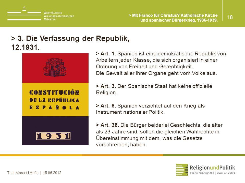 > 3. Die Verfassung der Republik, 12.1931.