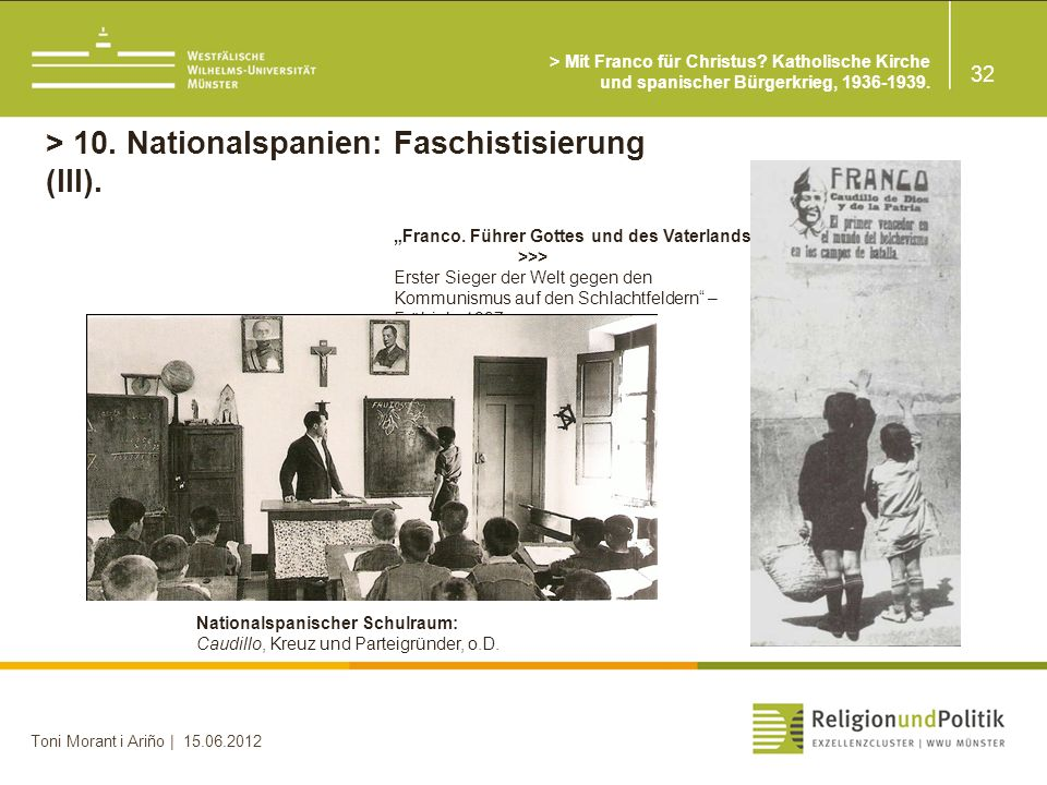 > 10. Nationalspanien: Faschistisierung (III).