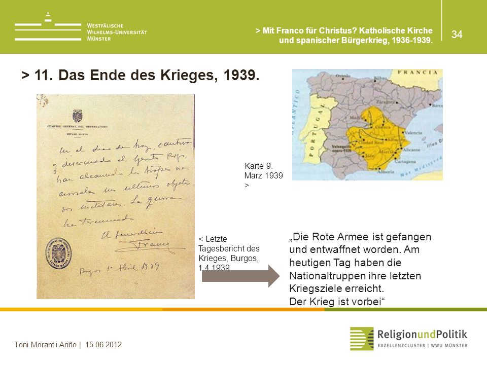 > 11. Das Ende des Krieges, 1939.