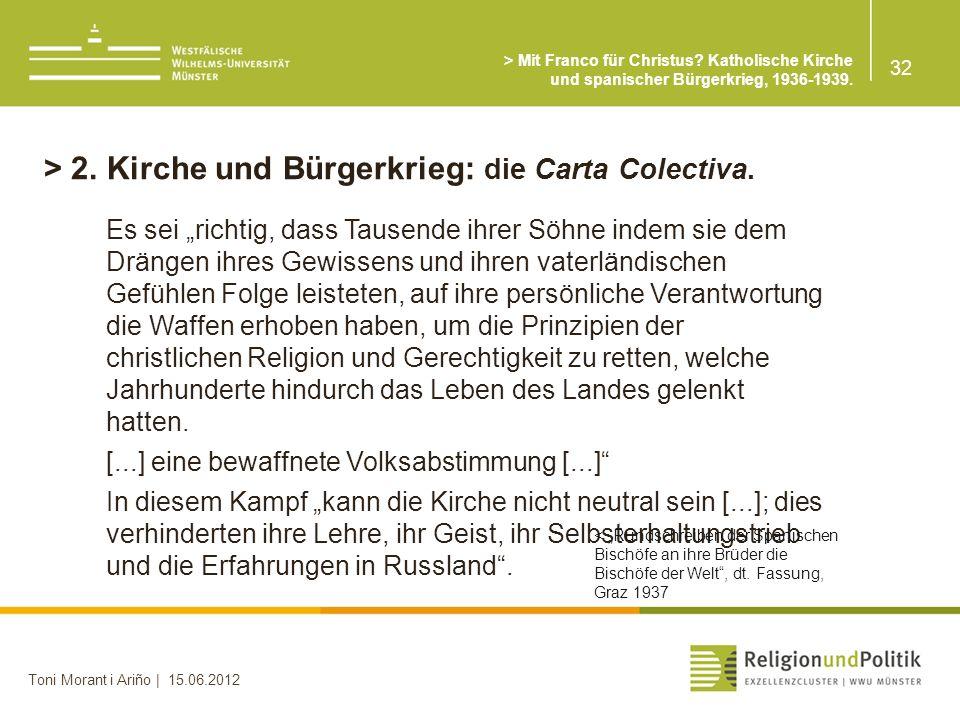 > 2. Kirche und Bürgerkrieg: die Carta Colectiva.