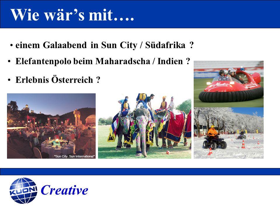 Wie wär's mit…. Creative einem Galaabend in Sun City / Südafrika