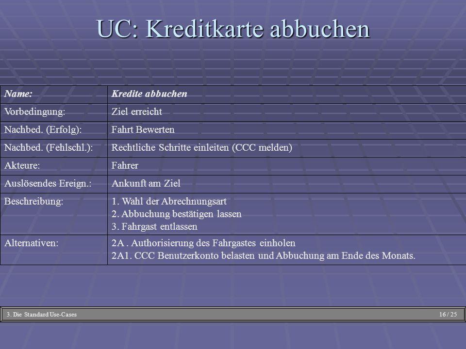 UC: Kreditkarte abbuchen