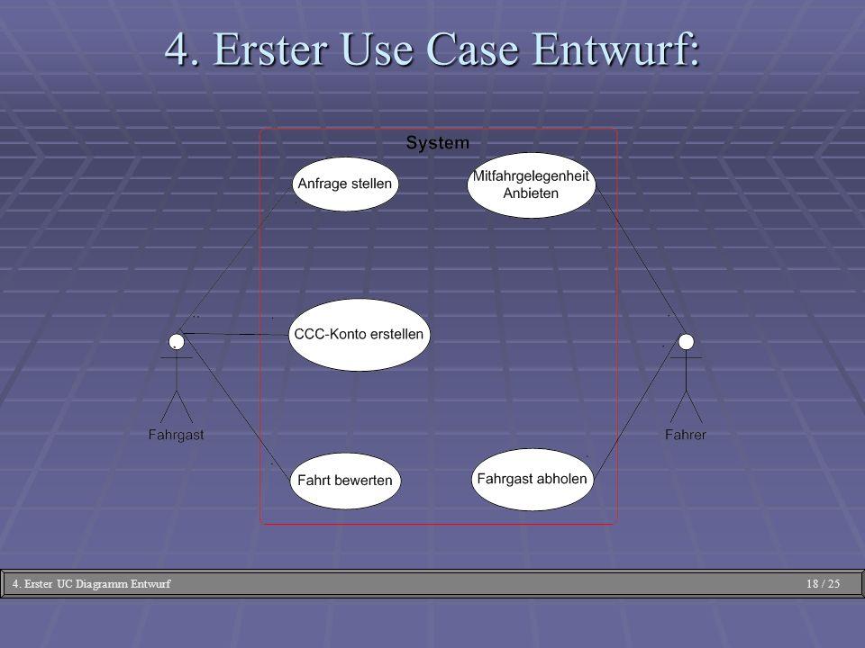 4. Erster Use Case Entwurf: