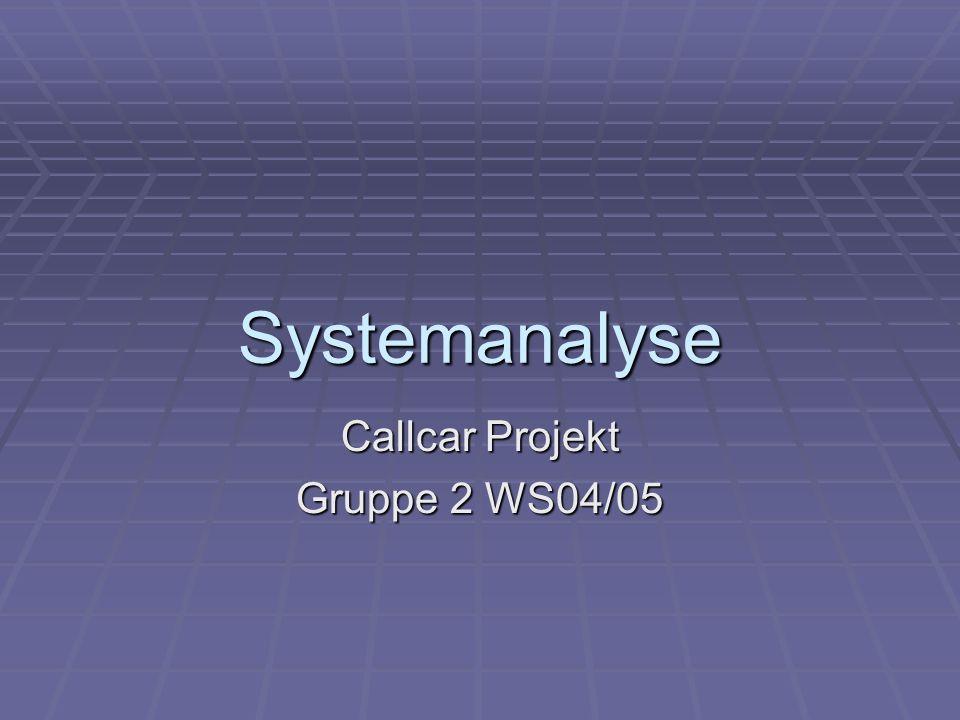 Callcar Projekt Gruppe 2 WS04/05