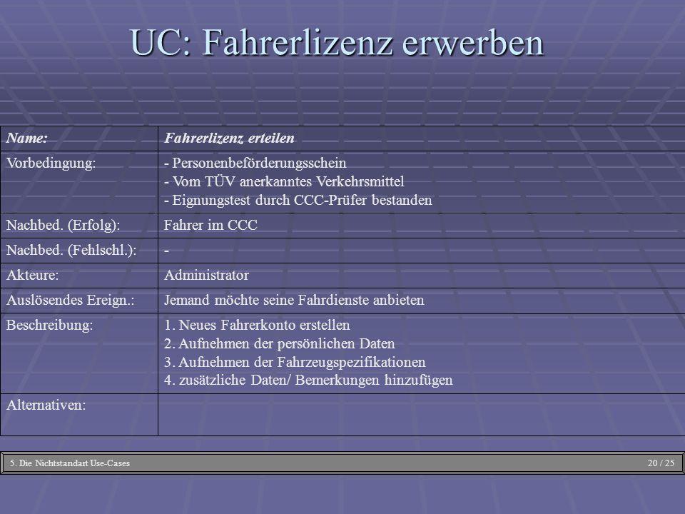 UC: Fahrerlizenz erwerben