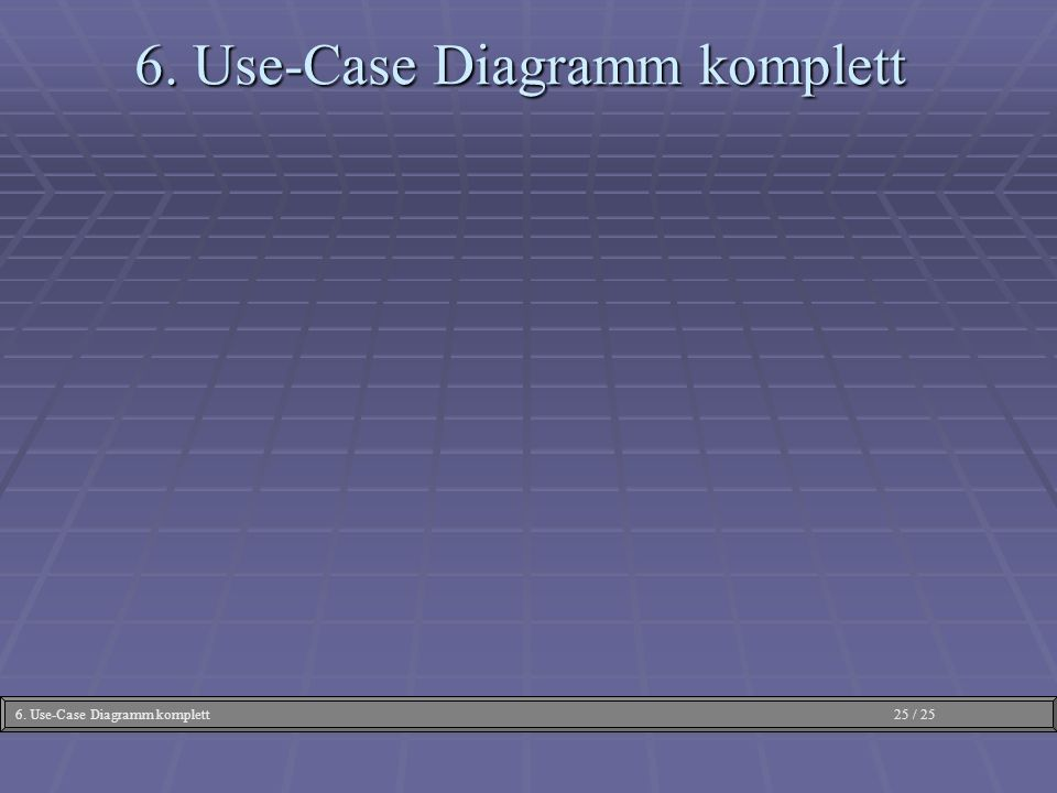 6. Use-Case Diagramm komplett
