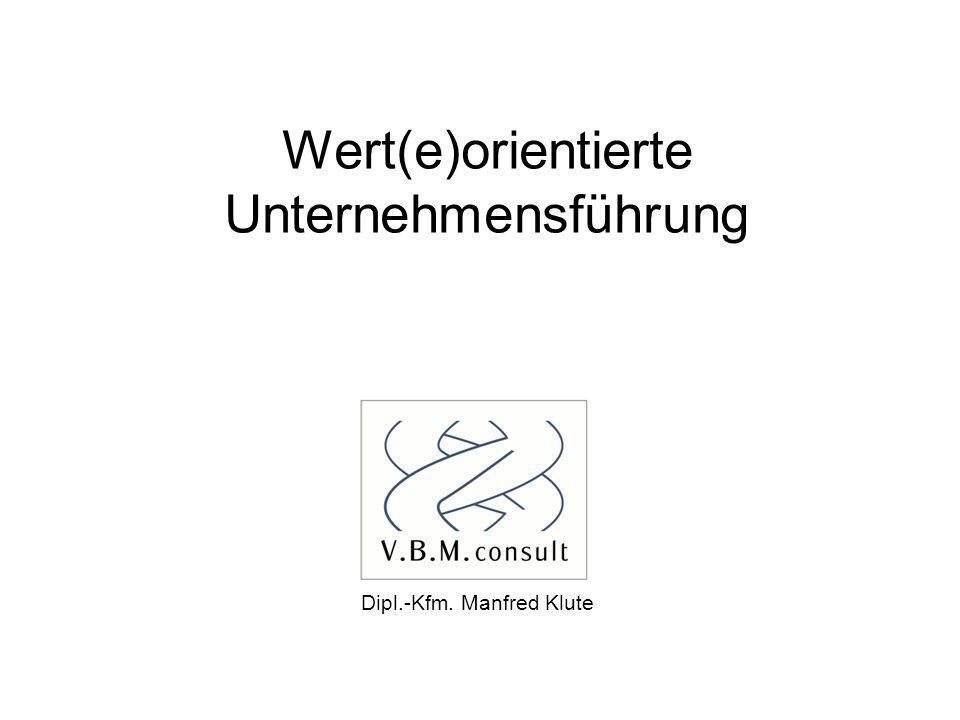 Wert(e)orientierte Unternehmensführung