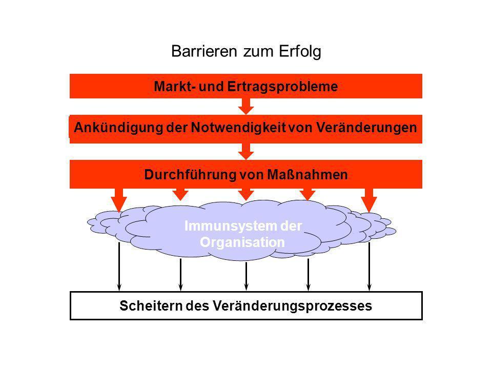 Barrieren zum Erfolg Markt- und Ertragsprobleme