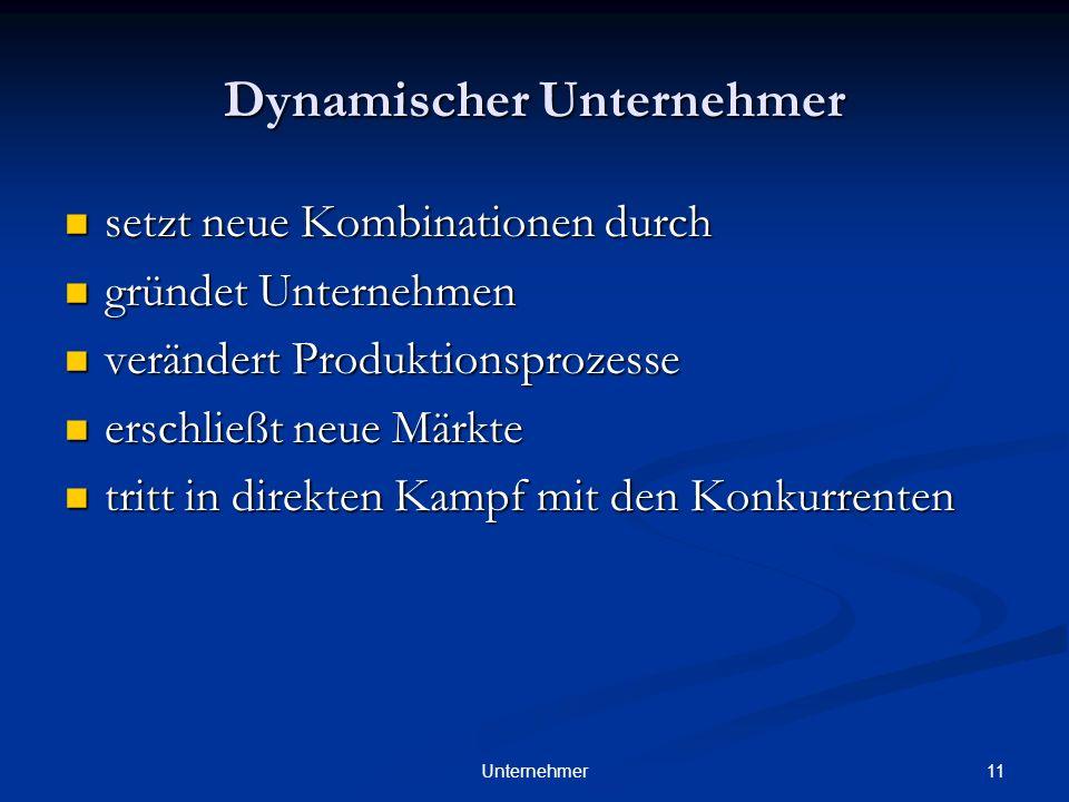 Dynamischer Unternehmer