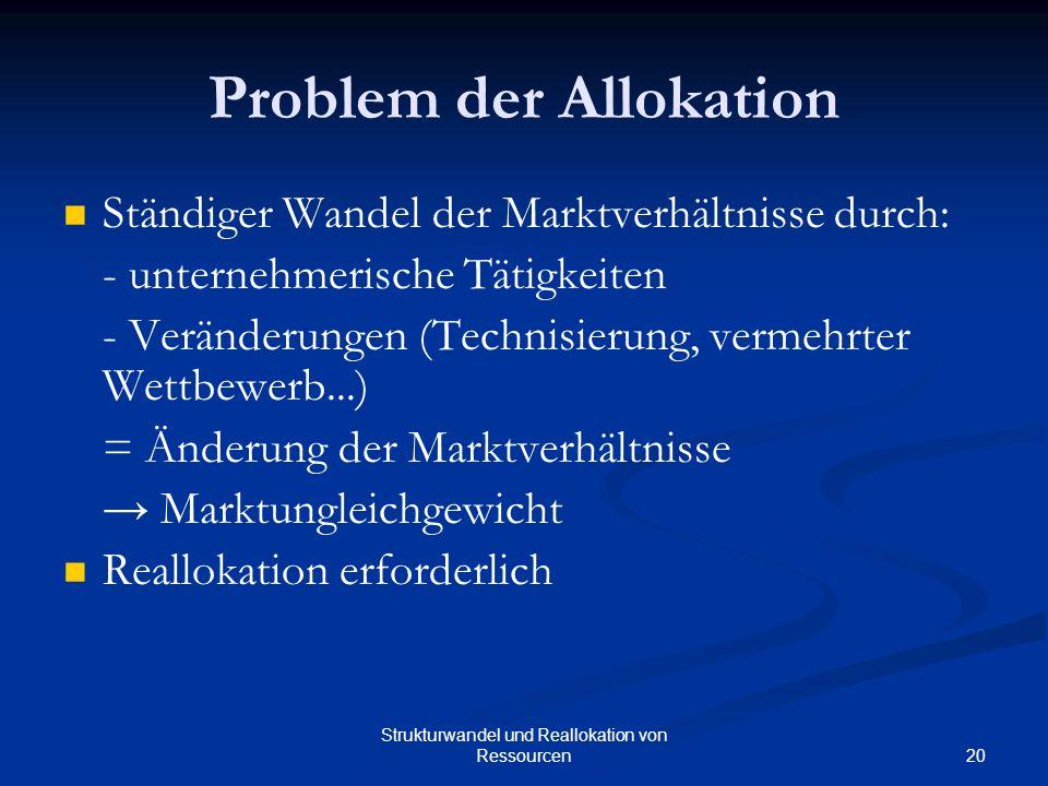 Problem der Allokation