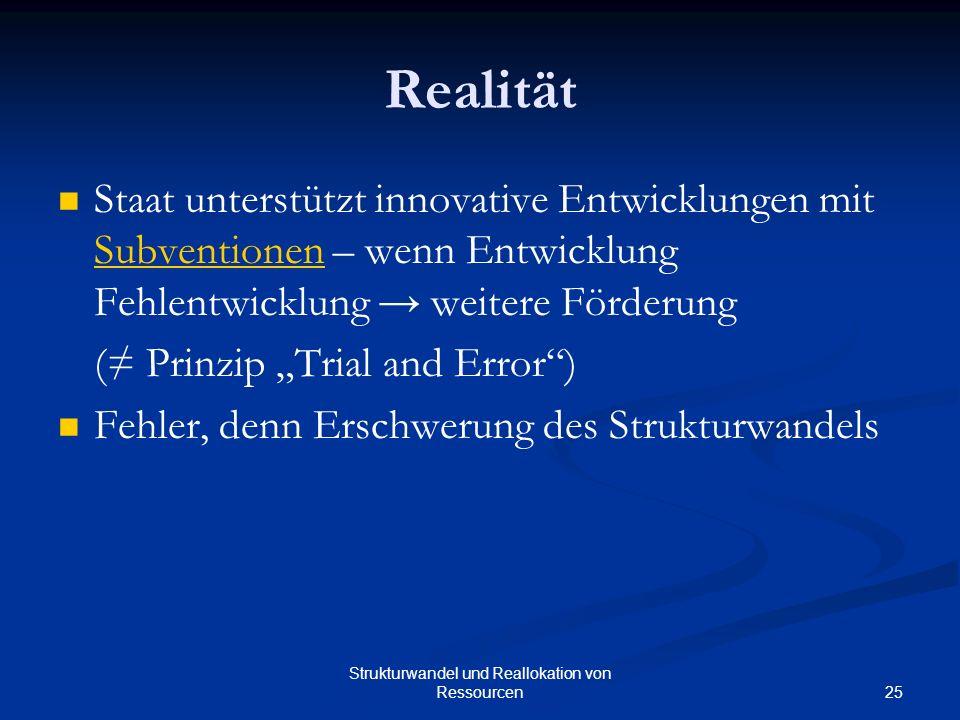 Strukturwandel und Reallokation von Ressourcen