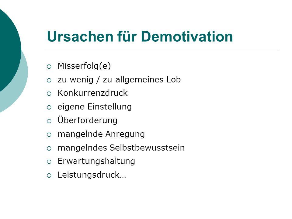 Ursachen für Demotivation