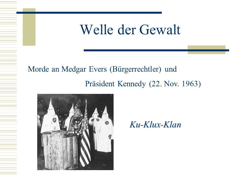 Welle der Gewalt Ku-Klux-Klan