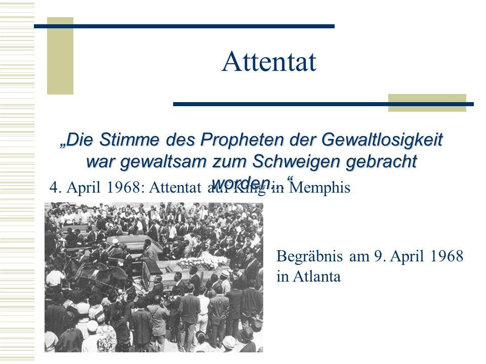 """Attentat """"Die Stimme des Propheten der Gewaltlosigkeit war gewaltsam zum Schweigen gebracht worden..."""