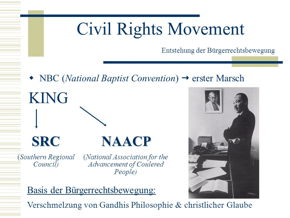 Civil Rights Movement Entstehung der Bürgerrechtsbewegung