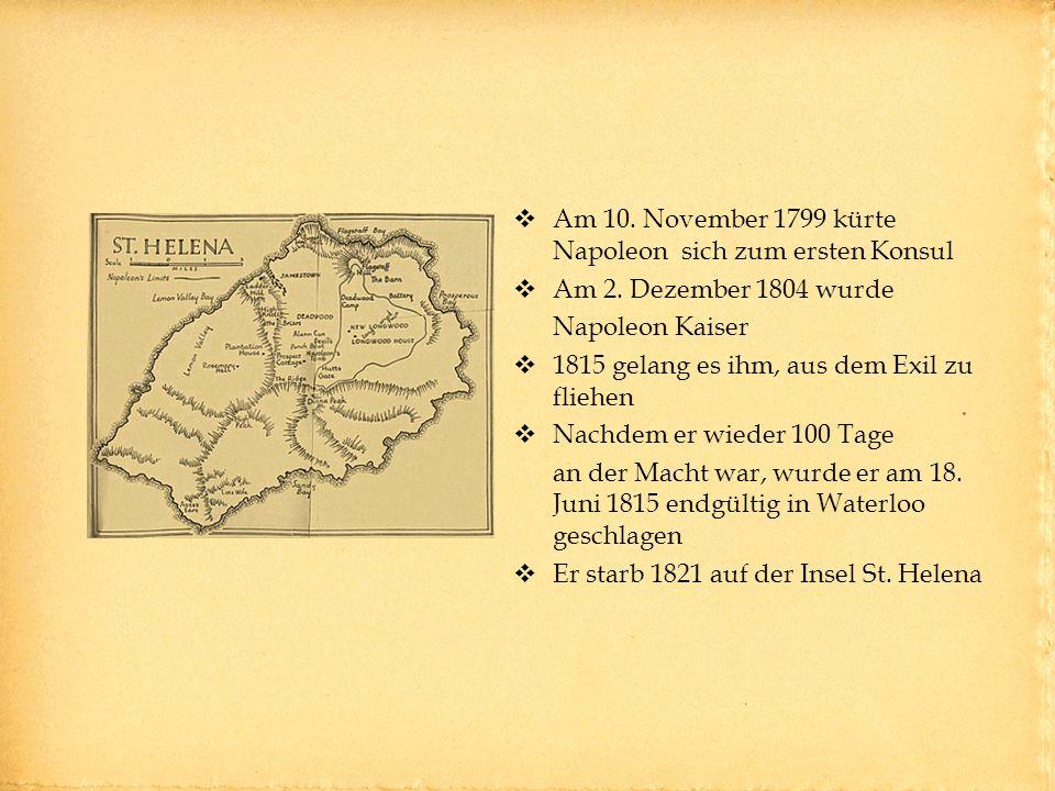Am 10. November 1799 kürte Napoleon sich zum ersten Konsul