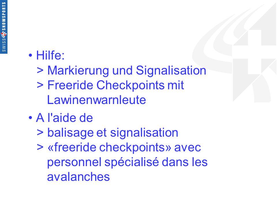 Hilfe:. > Markierung und Signalisation