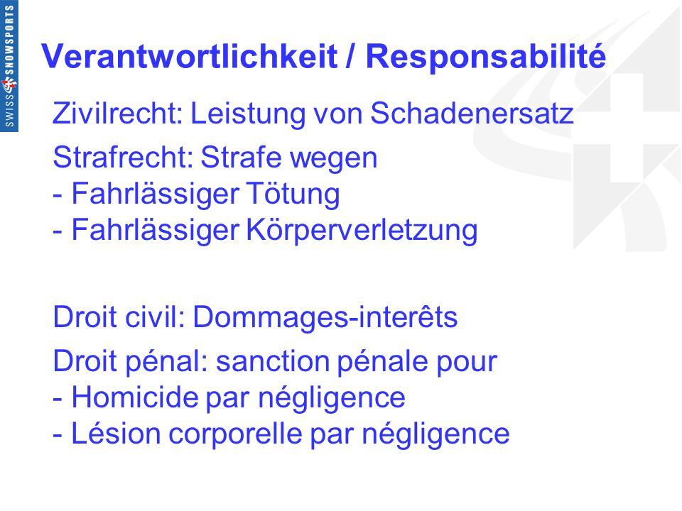Verantwortlichkeit / Responsabilité