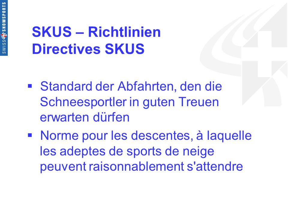 SKUS – Richtlinien Directives SKUS
