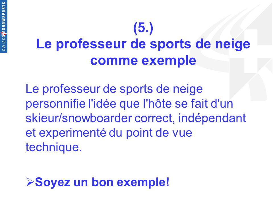(5.) Le professeur de sports de neige comme exemple