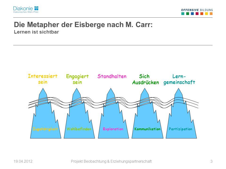 Die Metapher der Eisberge nach M. Carr:
