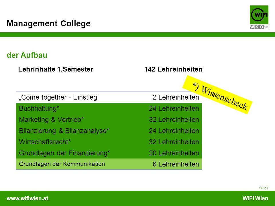 *) Wissenscheck der Aufbau Lehrinhalte 1.Semester 142 Lehreinheiten