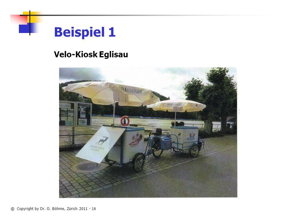 Beispiel 1 Velo-Kiosk Eglisau