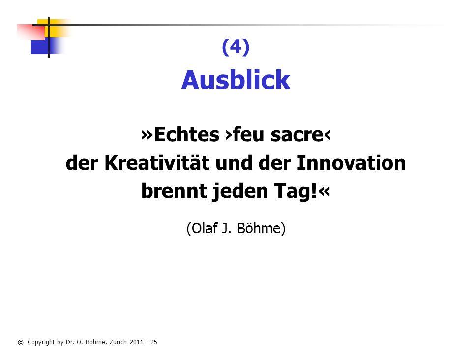 der Kreativität und der Innovation