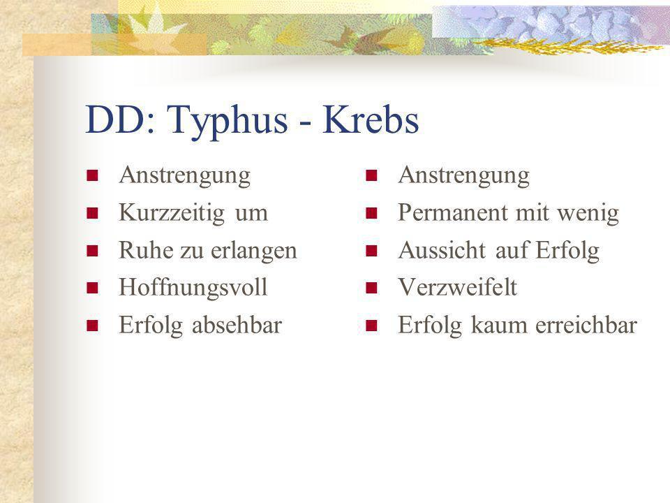DD: Typhus - Krebs Anstrengung Kurzzeitig um Ruhe zu erlangen