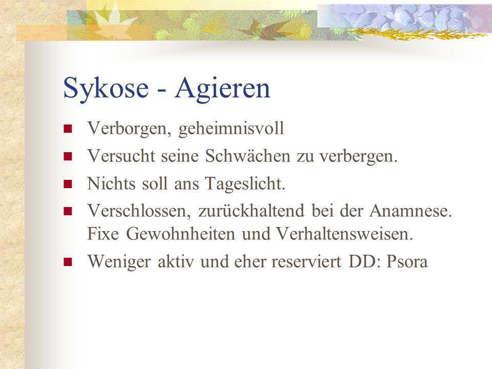 Sykose - Agieren Verborgen, geheimnisvoll