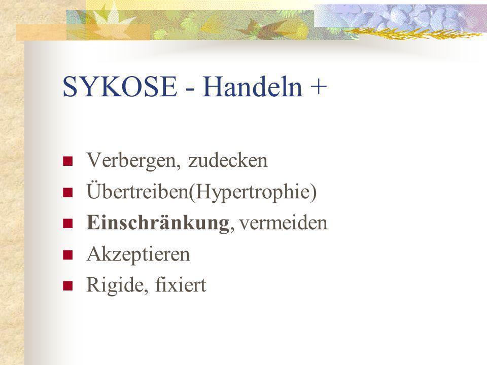 SYKOSE - Handeln + Verbergen, zudecken Übertreiben(Hypertrophie)