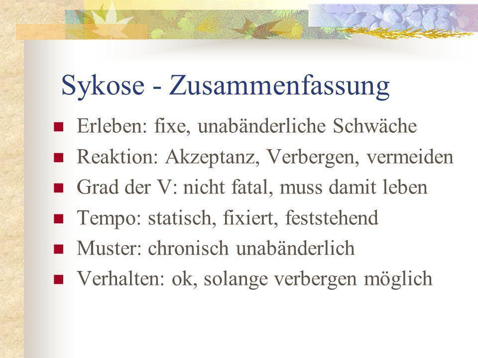 Sykose - Zusammenfassung