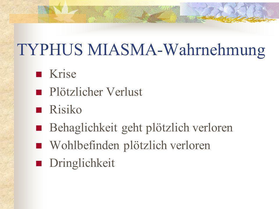 TYPHUS MIASMA-Wahrnehmung