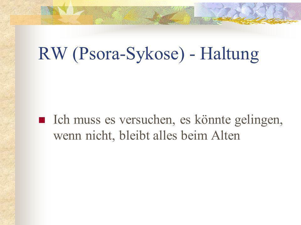 RW (Psora-Sykose) - Haltung