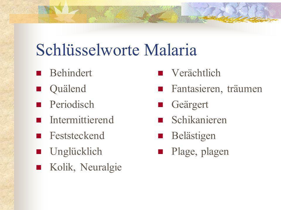 Schlüsselworte Malaria